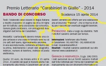 Premio Carabinieri in Giallo 2014