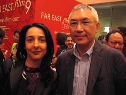 La nostra inviata Sacha Rosel con il regista Patrick Tam