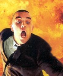 Un particolare della copertina del cd singolo Millennium. Nel video clip il cantante inglese si è divertito a fare il verso a James Bond