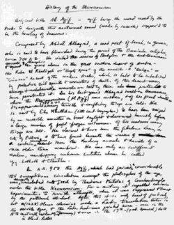 Manoscritto originale della lettera Lovecraft-Smith