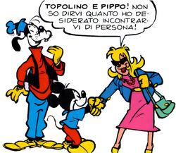 Claudette Salvatopi incontra i due eroi a fumetti