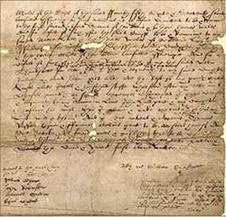 Ultima pagina del testamento di Shakespeare