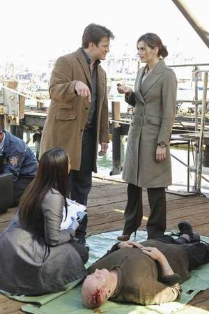 Richard Castle (Nathan Fillion) e il detective Beckett (Stana Katic)