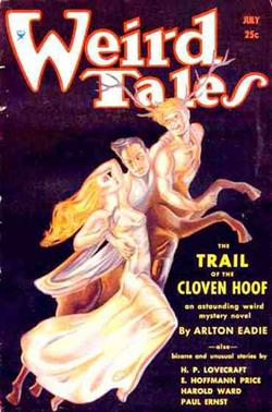 Copertina di Weird tales contenente il racconto citato