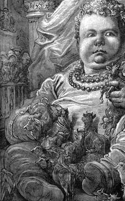 Il gigante Gargantua visto da Gustave Doré