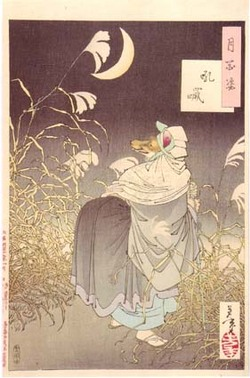 Kitsune disegnata da Tsukioka Yoshitoshi (1886)