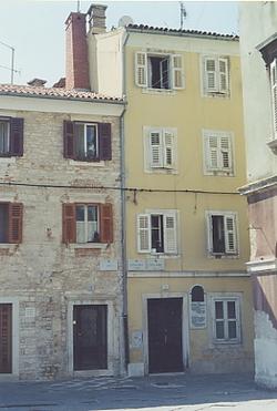 Casa natale di Antonio Smareglia a Pola