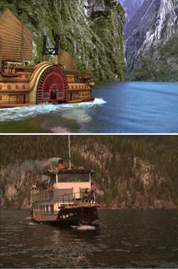 Il battello di Twain nelle due versioni filmiche