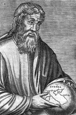 Strabone in un'incisione del XVI secolo