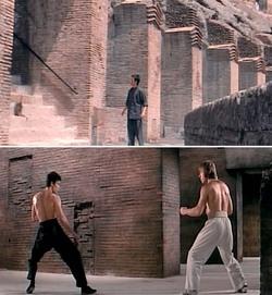 """Bruce Lee nel """"vero"""" Colosseo e poi in un teatro di posa"""