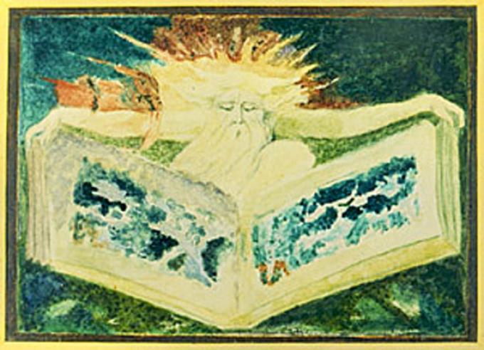 """William Blake - Disegno per il """"Libro di Urizen"""" (1795)"""