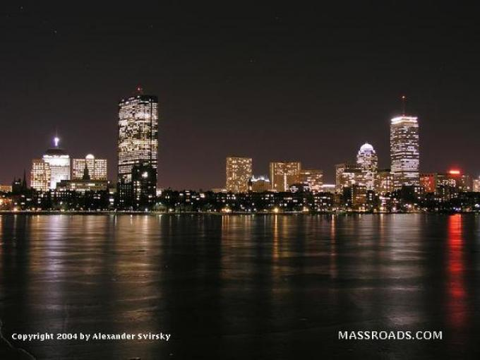 Boston di notte