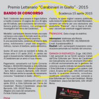 """Premio Letterario """"Carabinieri in Giallo"""" - 2015"""